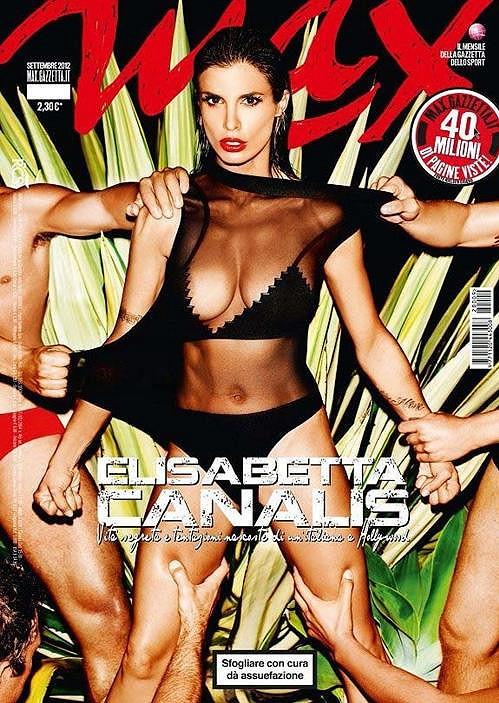 Italská modelka na obálce magazínu.