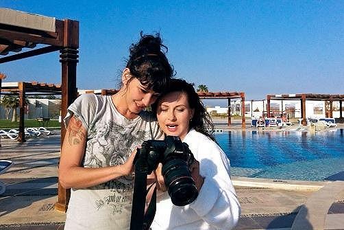 S fotografkou Alžbětou Jungrovou.