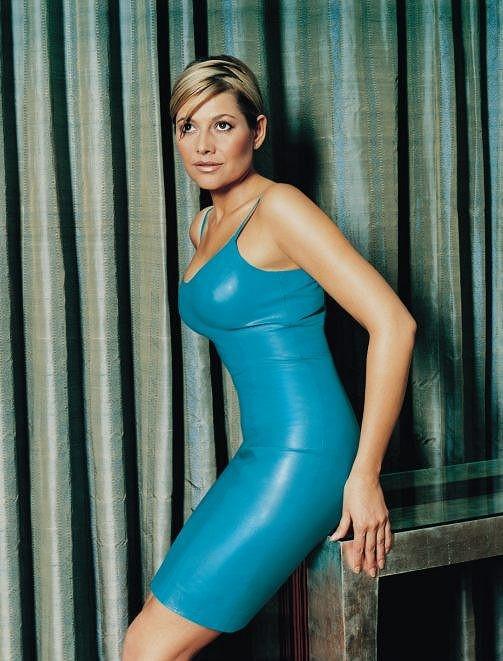 Ilona Csáková se ráda oblékala do těsných kožených outfitů.