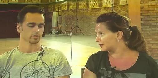 Dana se svým tanečníkem Jiřím Heinem.