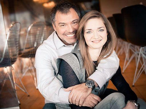 Klára Nademlýnská s manželem Goranem Tačevskim.