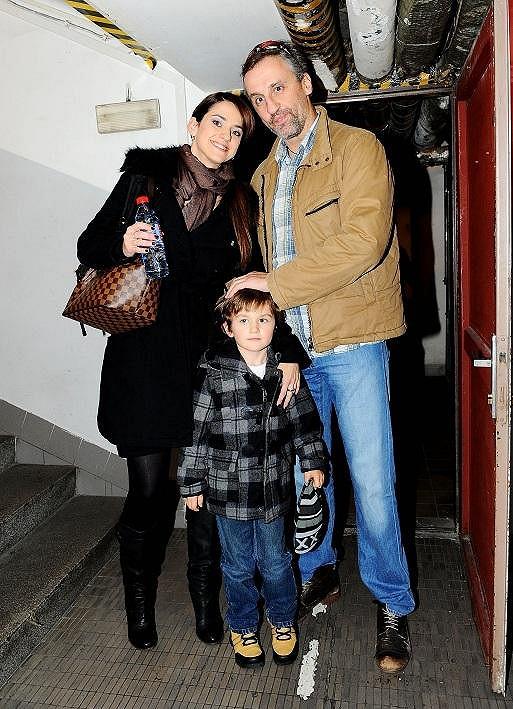 Libuška se synem Matyášem a přítelem.