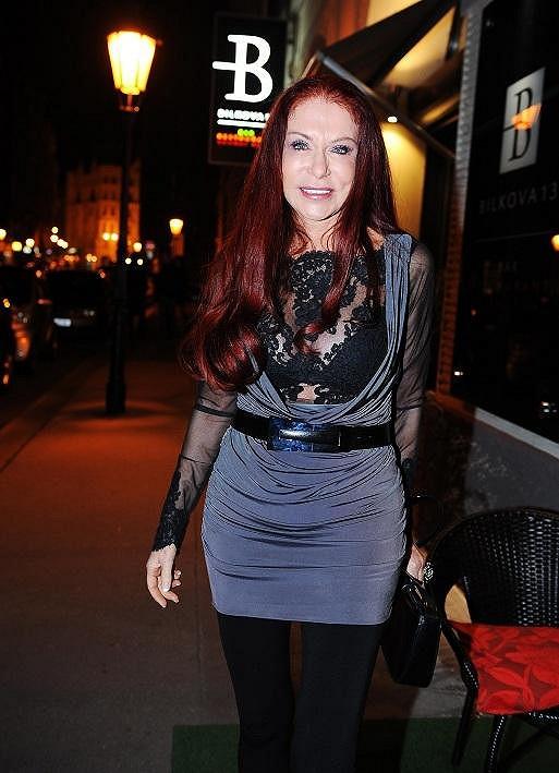 Na párty dorazila i návrhářka Blanka Matragi.