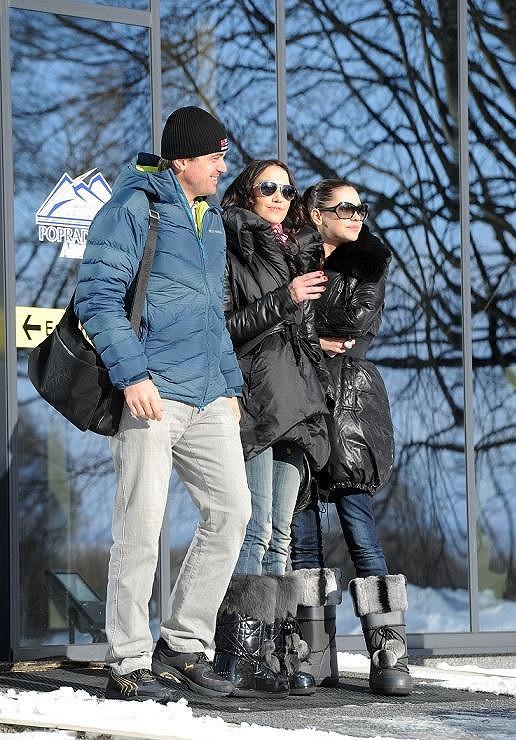 Hanka Svobodová a Agáta Hanychová zvolily obuv vhodnou do hor.