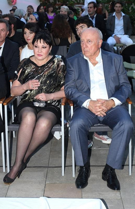 Dáda s manželem Felixem Slováčkem na módní přehlídce.