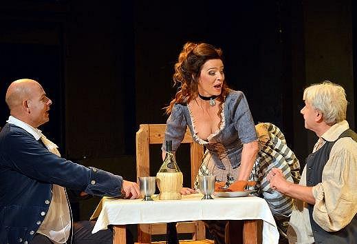 Lucie v představení Jakub a jeho pán.