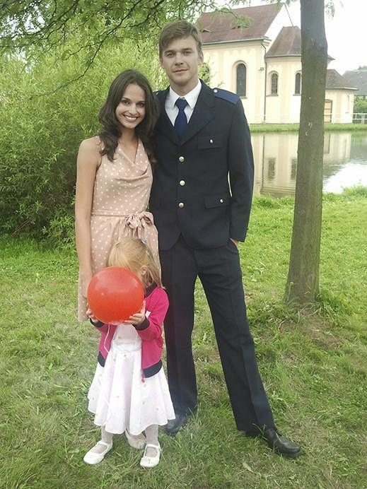 Markéta Kořínková s Vojtou Dykem.