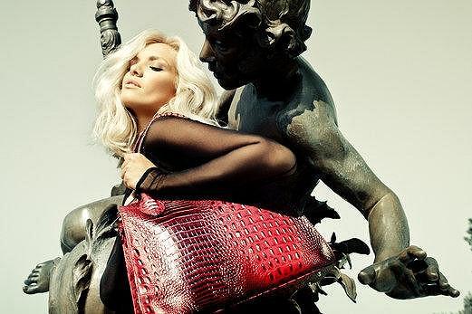 Modelka ukázala svůj šarm.
