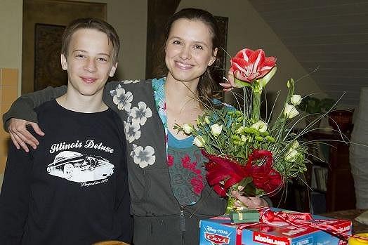 Zuzana se svým seriálovým synem.