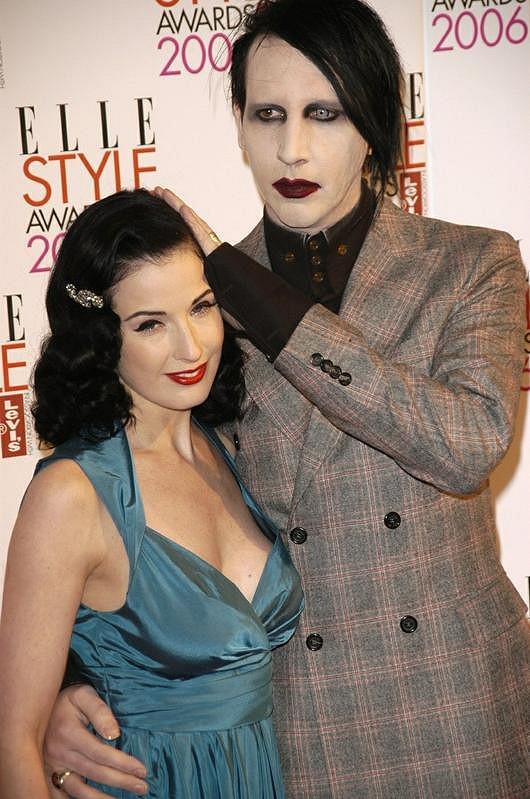 Marilyn Manson s bývalou manželkou Ditou von Teese.