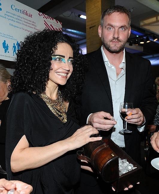 Lucie Bílá s přítelem Petrem Makovičkou.