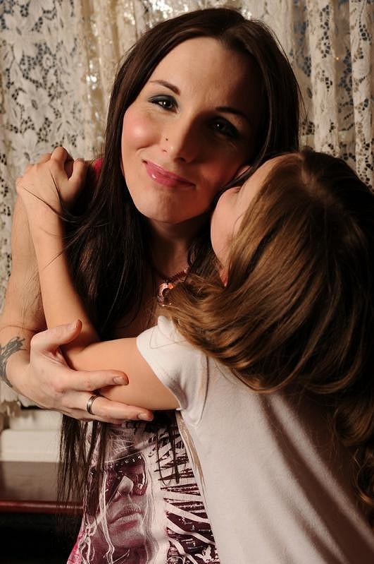 Chrisie se svou devítiletou dcerkou Chloe.