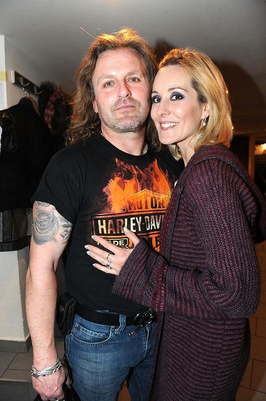 Pepa Vojtek s manželkou Jovankou po představení.