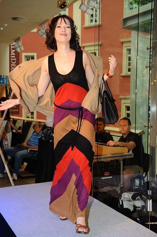Tereza Kostková jako modelka.