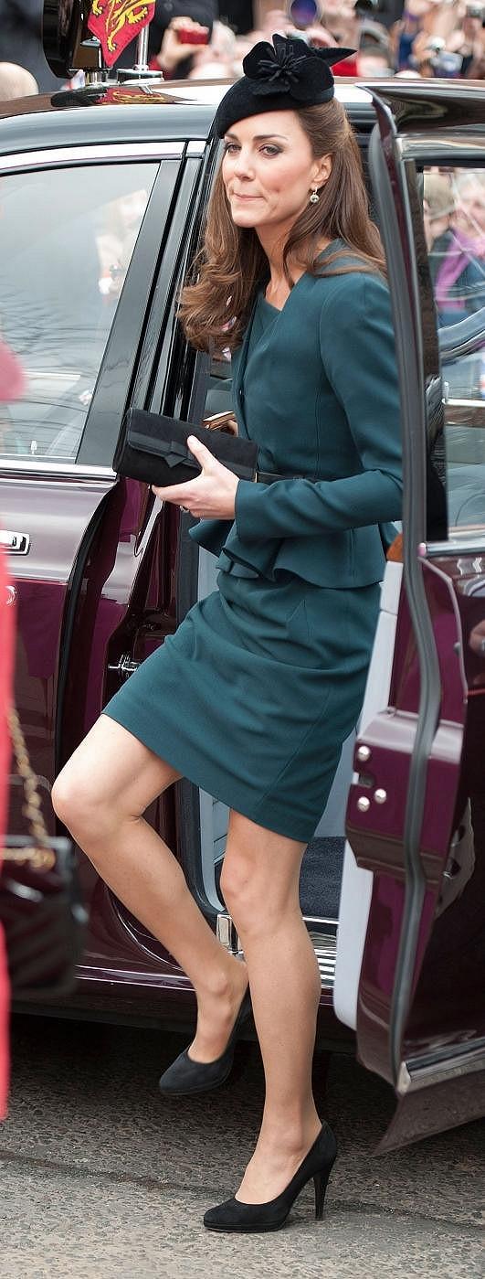 Vévodkyně během cesty po Spojeném království.