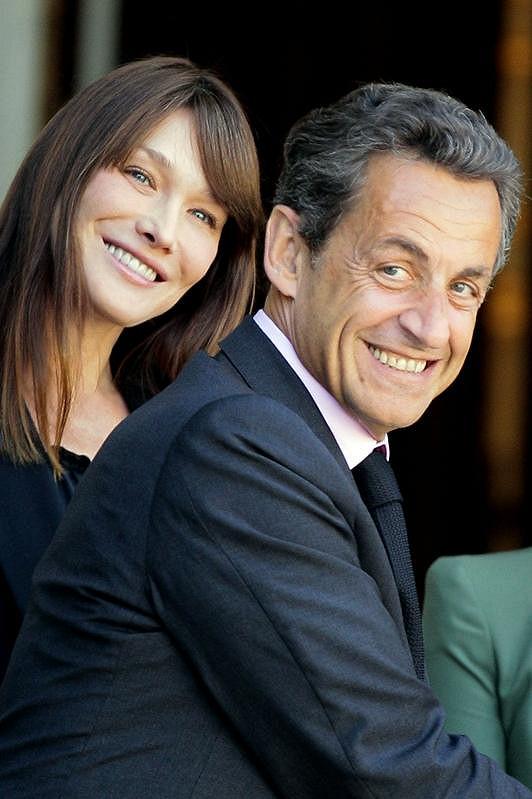 Carla se svým manželem Nicolasem Sarkozym.