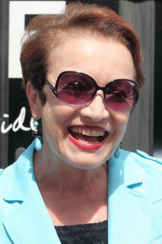Hana Maciuchová rozdávala úsměvy.