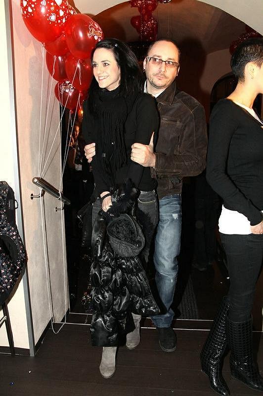 Libuška Vojtková s přítelem Marianem Vojtkem na valentýnské párty