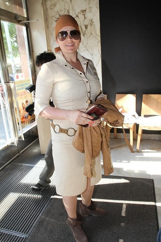 Jitka Čvančarová ve svém letním outfitu.
