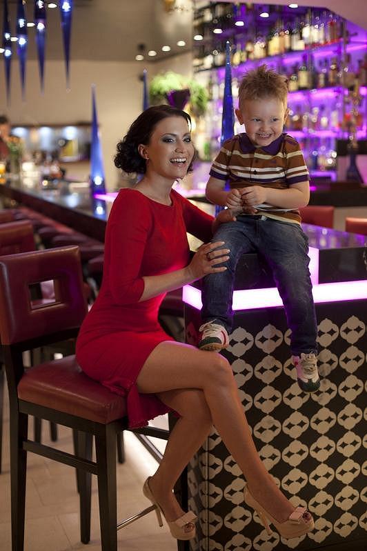 Gabriela Partyšová se synem Kristiánem