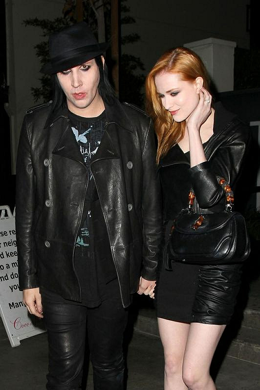 Manson se bývalou snoubenkou Evan Rachel Wood.