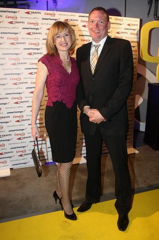 Na akci zavítala i Štěpánka Duchková s Janem Hruškou.