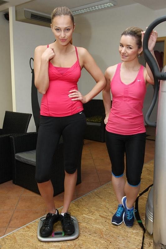 Renata s cvičitelkou celebrit Janou Mrázkovou.