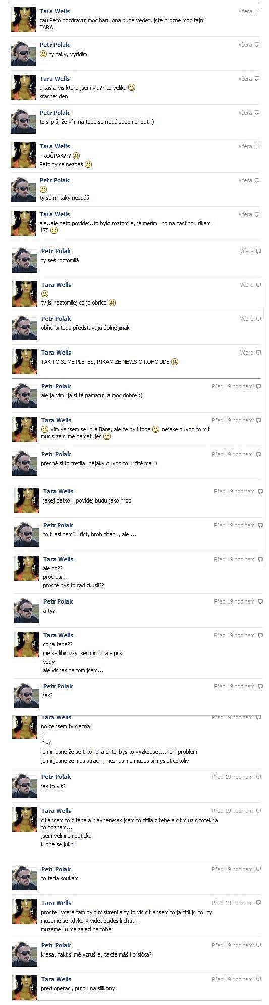 Komunikace Tary s Polákem začíná nevinně.