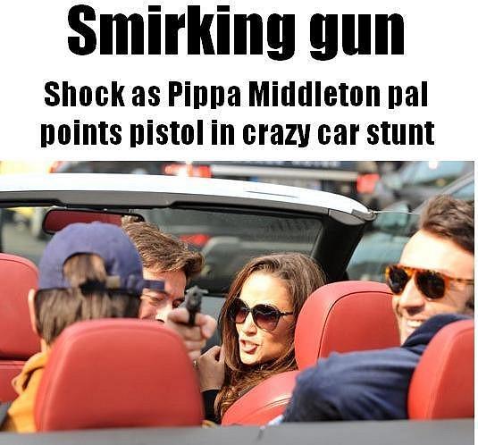 Kamarád Pippy Middleton vytáhl zbraň na novináře.