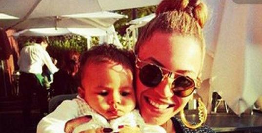 Beyoncé Knowles s dcerkou.