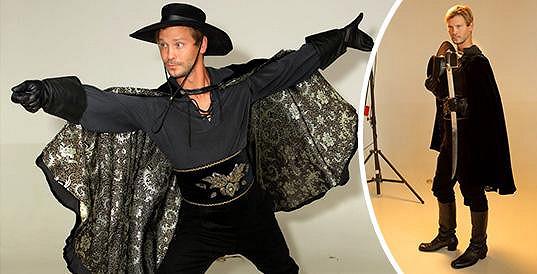Takhle vypadá Marek Holý jako Zorro.