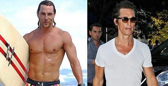Matthew McConaughey si na postavě nechával záležet, dnes vypadá jako kostlivec.