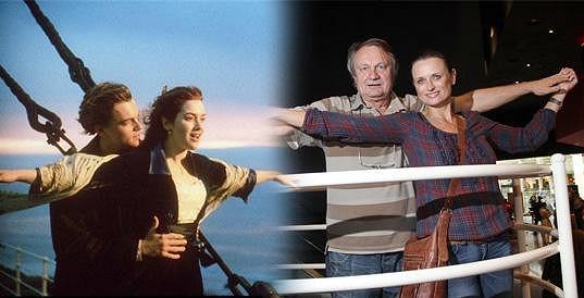 Titanic a Leonardo DiCaprio s Kate Winslet.