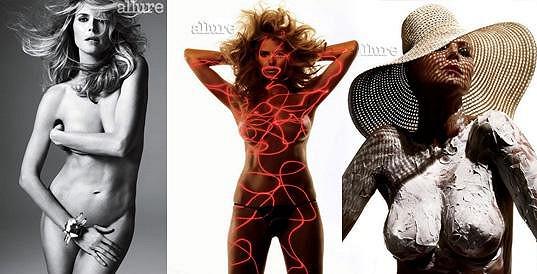 Heidi Klum se svlékla i před třemi týdny pro magazín Allure.