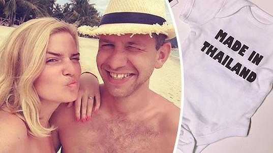 Nikol Štíbrová s přítelem na dovolené v Thajsku, kde miminko počali.