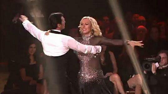 Martina Navrátilová v soutěži Dancing with the Stars minulý týden.