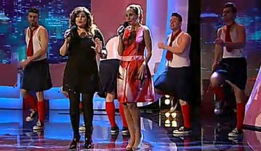 Ilona Csáková a Monika Absolonová společně zpívaly v pořadu Nejlepší scénka.
