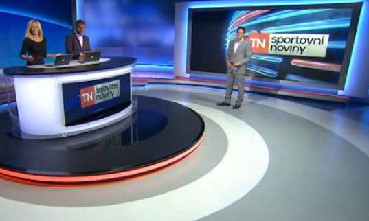 Lucie Borhyová a Michal Hrdlička v pondělí v Televizních novinách