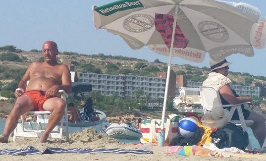 Takhle si užíval odpočinek na Maltě.