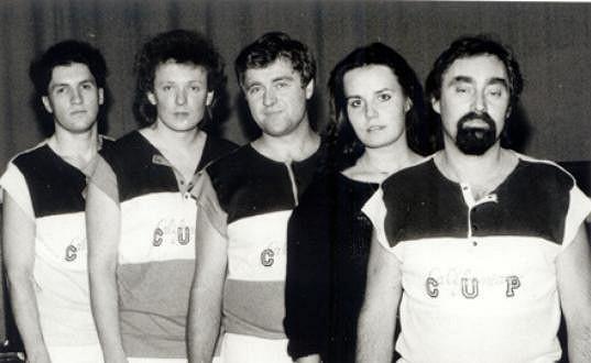 Eva a Vašek s kapelou Surf v roce 1989.