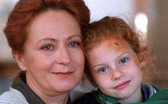 Se Simonou Stašovou v době, kdy jí bylo šest let.