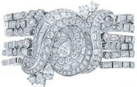 Nejdražším šperkem v klipu byl náramek z platiny s diamanty v hodnotě půl miliónu dolarů.