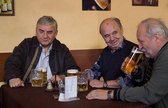 Miroslav Donutil, Milan Stehlík a Miloš Vávra v 3 plus 1 s Miroslavem Donutilem (zleva)