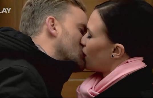 S Kristýnou si užil nejednu seriálovou líbačku.