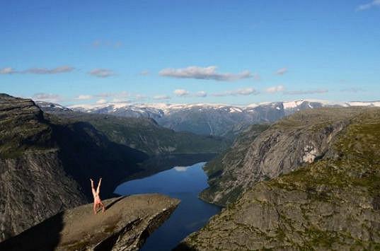 Trolltunga v Norsku