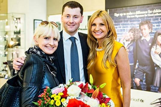 Projekt podpořila i Tamara Kotvalová (vpravo).