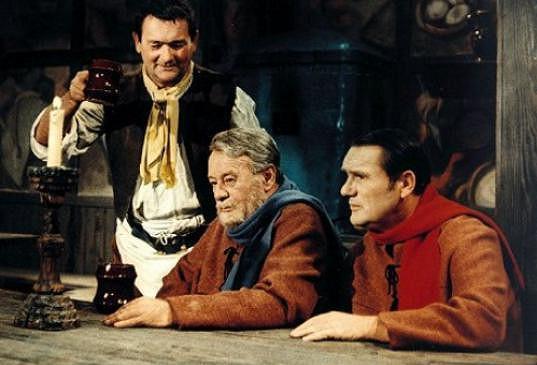 Branislav Koreň, Bohuš Záhorský a František Dibarbora (vpravo) v Šíleně smutné princezně
