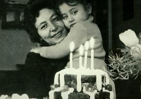 Halina Pawlowská s maminkou.