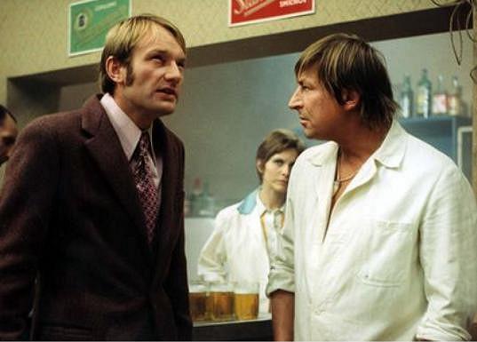 Ve filmu si zahrál i Karel Novák (vpravo), který tři dny před svými padesátinami spáchal sebevraždu.