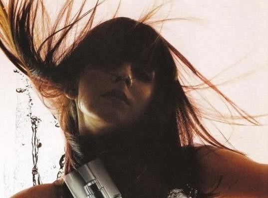Gabriela Kratochvílová v dobách, kdy nosila dlouhé vlasy.